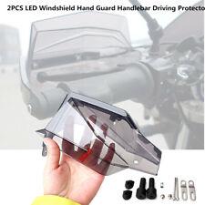 2X Motorcycle 12V LED Windshield Hand Guard Signal Light Running Lamp Handlebar