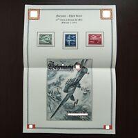 Germany Nazi 1944 Stamp MINT Swastika planes WWII 25th anniv. of German air mail