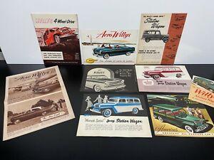Lot Vintage Original 1960s JEEP & WILLYS Car Dealer SALES BROCHURE Catalog