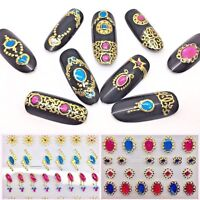 3D Nail Charms Stickers Nail Art Jewelry Diamond Lace Gold Nails Adhesive Charm