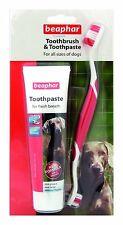 Beaphar 100g DOG dentifricio & spazzolino Set fegato ANTI PLACCA