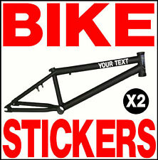 2 X CUSTOM BIKE STICKERS BMX MOUNTAIN DOWNHILL RACE !!