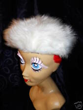Vintage New Winter Fake Fur Beanie Beret Hat Mod 1960s