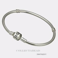 Authentic Pandora Sterling Silver Bracelet with Pandora Lock 6.7 590702HV-17