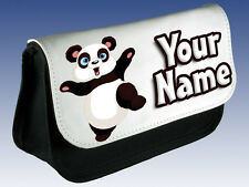 PANDA PERSONALISED  MAKE UP BAG / PENCIL /DS CASE  - GREAT GIFT IDEA & NAMED TOO
