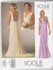 Vogue Pattern V2965 Bridal Original Wedding Gown or Bridesmaid Dress Sz 16-20