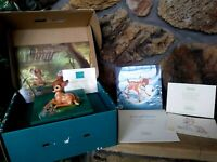 "BAMBI ""THE YOUNG PRINCE"" DISNEY WDCC FIGURINE w/COMPLETE MEMBERSHIP KIT, NEW MIB"