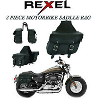 Motorcycle Tool Bag Motorbike PU Leather Tool Roll Saddle Bag Pannier Sissy Bar