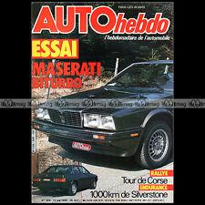 AUTO HEBDO N°368 MASERATI BITURBO SEAT RONDA ALFETTA MICHEL FERTE TOUR CORSE '83