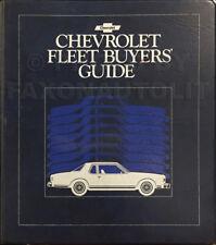 1979 Chevy Fleet Buyers Guide Dealer Album Options Color Upholstery Showroom
