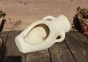 Amphore ca 30 cm aus Terracotta Terrakotta Vase Wasserlauf Pflanzamphore liegend