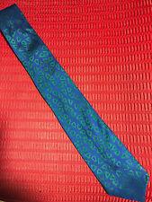 Charvet Place Vendome Blue-Green Silk Tie