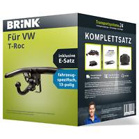 Anhängerkupplung BRINK abnehmbar für VW T-Roc +E-Satz PKW