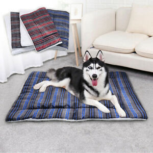 Large Dog Bed Mattress Washable Soft Sleep Kennel Cushion Crate Blanket Mat M-XL