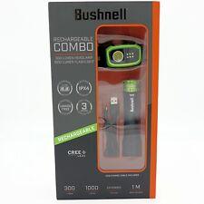 Bushnell RECHARGEABLE COMBO 1000 Lumen FLASHLIGHT and 300 Lumen HEADLAMP w/ USB