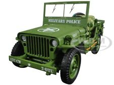 US ARMY WWII JEEP MILITARY POLICE GREEN 1/18 DIECAST BY AMERICAN DIORAMA 77406