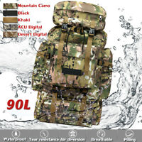 90L Outdoor Multifunction Backpack Sport Camping Trekking Hiking Large