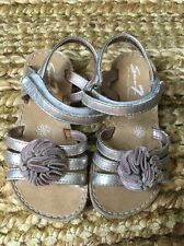 Seven 7 Girls Sandals Slight Heel, Silver and Pink Good/Play Condition, Size 7