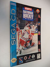 ESPN National Hockey Night Sega CD Instruction Manual Only! NO Game Disc!