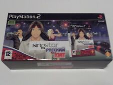 SINGSTAR RUSSIAN HITS for PLAYSTATION 2 BIG BOX WITH MICROPHONES 'VERY RARE'