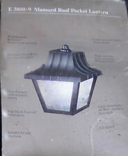 Edison Lighting E 3800-9 Mansard Pocket Lantern Vintage Outdoor Fixture