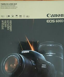 Canon EOS 600D with twin IS lens kit (carrybag included)