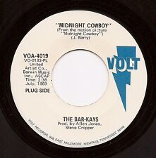 BAR-KAYS Midnight Cowboy / A.J. The House Fly  wl Promo 45 on Volt  Soul  Listen
