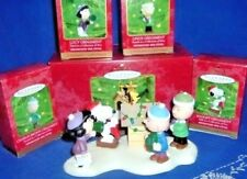 Complete Peanuts Ornament Set A Snoopy Christmas 2000 Lucy Linus Charlie Brown!!