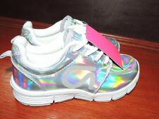 Youth Girls Shoe Size 3 * GAP KIDS *  Silver Iridescent  Sneakers Shoes NWT