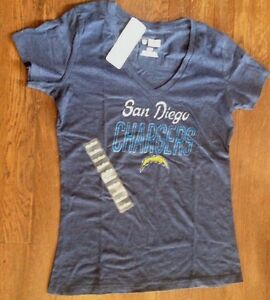 NFL San Diego Chargers Women's V-Neck Scrum Tee XL NFL Brand Free Shipping