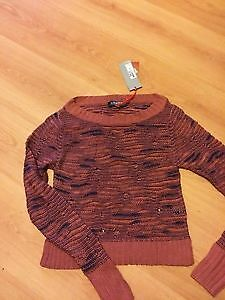 BNWT! Marks & Spencer Limited Collection Series - Copper RustyBrown JumperSize 6