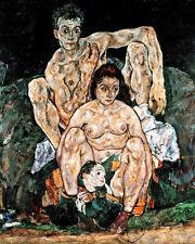 Egon Schiele Family Self Portrait Painting London 8x10 Real Canvas Art Print