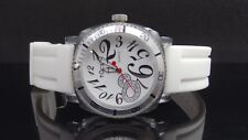 Tocs 40007 White Rubber Strap White Dial Acrylic Silver & Clear Case Watch