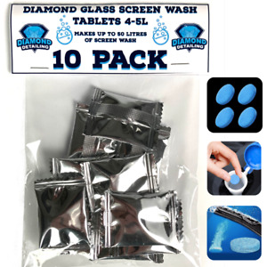 Diamond glass Car screen wash tablets | 10 pack concentrated Screenwash 50L