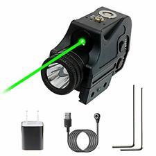 New Flashlight Laser Sight, Green + Strobe Function Pistol.