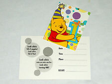 WINNIE THE POOH 1st  BIRTHDAY  GIRL or BOY     8-INVITATIONS  PARTY SUPPLIES