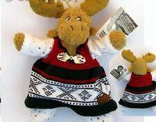 Norway Moose in Marius Sweater Soft Plush, NEW
