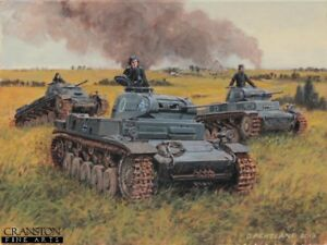 WW2 Military Art Post Card Battle of Kiev German 11th Panzer Division Tanks