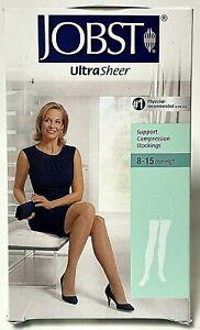 Jobst Ultrasheer Women's Medium Beige Compression Stockings Thigh CT 8-15mmHg