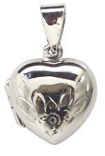 Familia medallón corazón floral de plata esterlina 925 colgante de gota de 24mm: foto De Flor