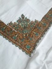 Yemeni Arabian Shawl Embroidery Shemagh scarf ladies Islamic gents sufi white