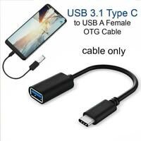 USB C 3.1 Type-C Male to USB 3.0 Type A Female OTG Adapter Converter Cable Cord