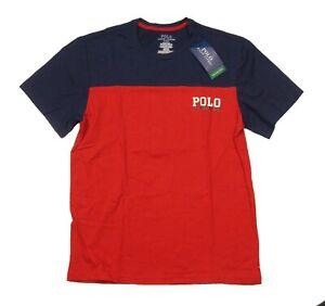 Polo Ralph Lauren Men's Red/Navy Colorblock Breathable Mesh Crew-Neck T-Shirt