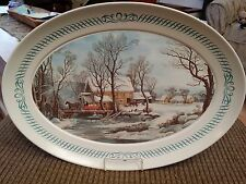 Vintage Thanksgiving Platter Brookpark Melamine Melmac Holiday Turkey Server