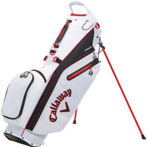 NEW Callaway 2021 Fairway C White/Black/Red Double Strap Stand Golf Bag