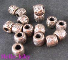 80Pcs Antiqued copper plt wirlpool drum spacer bead A89