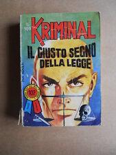 KRIMINAL n°102 edizioni Corno  [G406]