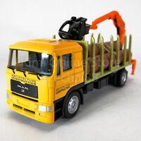 DSM 1:64 Die-Cast MAN Logging Truck Orange Color Model Collection New Gift Toys