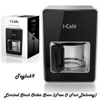 12 Cups Coffee Maker Machine 1000 Watt, Black (I-Cafe)
