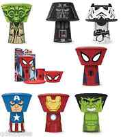 CHILDRENS STACKING CUP/MUG BOWL & PLATE MEAL DINNER SET STAR WARS & AVENGERS